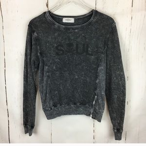 Soul cycle zipup design sweater